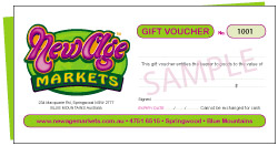 New Age Markets gift voucher