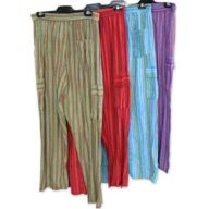Cotton Striped Pants