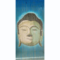 Blue Buddha Bust Door Screen