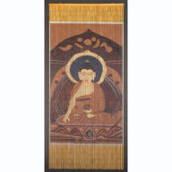 Brown Buddha Door Screen
