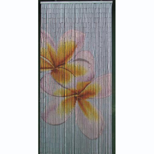 double frangipani door curtain