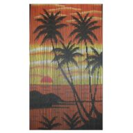 island sunset door curtain