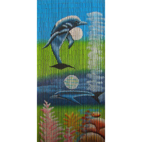 ... Door Curtains - All Products › Beaded Door Curtains – Dolphin Moon