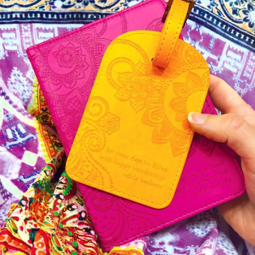 Colourful Luggage Tags Marigold